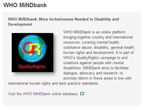 WHO mindbank