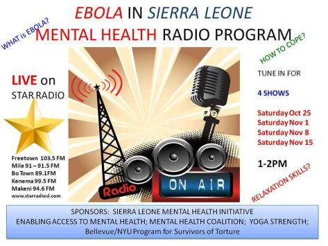 Ebola - Mental Health Program